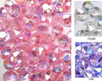 14mm 10 Carats Diamond Confetti AB Coating For Table Scatter Wedding Decorations - 50 Pieces