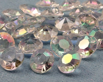 20mm 25 Carats Diamond Confetti AB Coating For Table Scatter Wedding Decorations - 25 Pieces