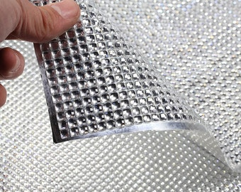 Large Crystal Self Adhesive Cuttable Sheet of Resin Rhinestones For Use On Large Surfaces
