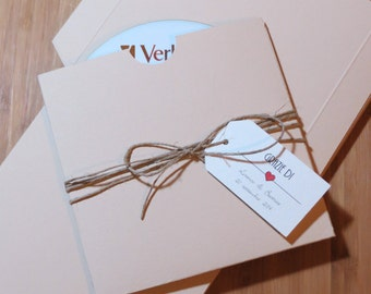 "10 custodie personalizzabili per cd/dvd, design ""envelope"""