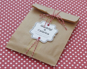 Kit bags kraft paper bags 10 decorated
