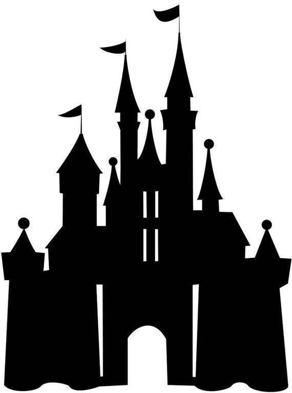 Disney Castle Silhouette Decal by NerdVinyl on Etsy