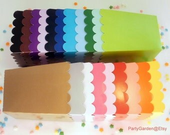 24  Colored popcorn boxes treats favors - Your Choice of Colors
