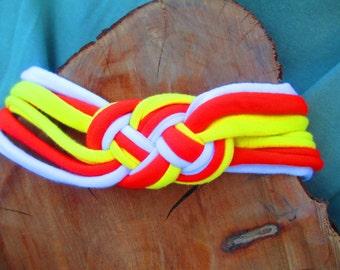 Candy Corn Inspired Celtic Knot Headband