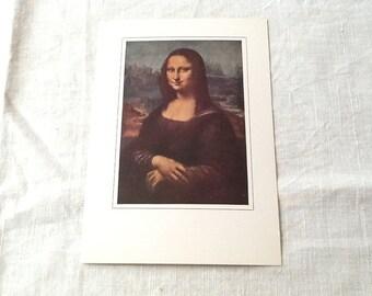 Unused Vintage Mona Lisa Postcard /Free Shipping