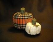 Set of 2 Small Handmade Pumkins