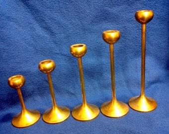 Solid Brass Graduating Candle Sticks