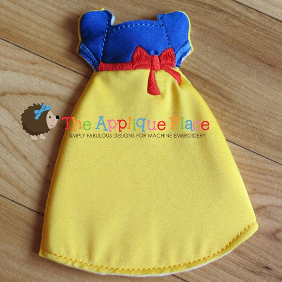 Snow white gown pattern for dolls cloth doll clothing