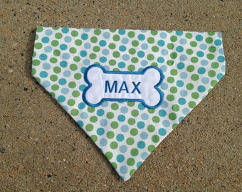 Large  Personalized Dog Bandana Dog Collar Accessory