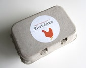 "Egg Carton Labels, Custom Packaging, Food Labels, Chicken Silhouette, Hen Coop, Egg Packaging, Product Labels, 2.5"" Round"