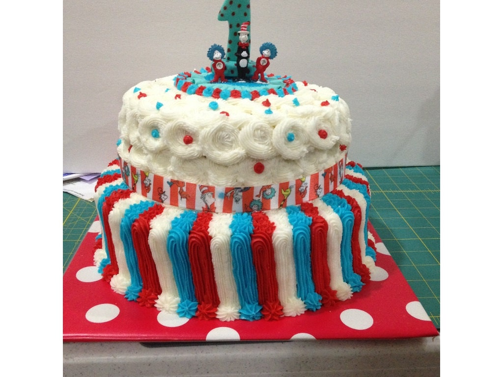 dr seuss wedding cake toppers cat in the hat dr seuss cake topper birthday baptism baby 13753