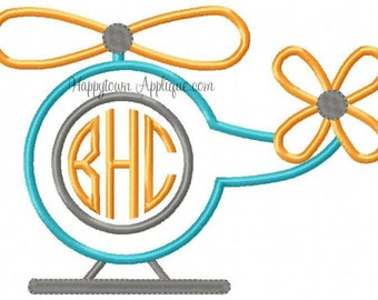 Helicopter Machine Embroidery Design