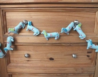 Hand made padded garlands for the home