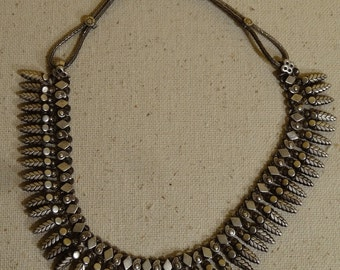 """Old Silver Ethnic Tribal India Jewelry Necklace - 17 inches """"MAJOR PRICE REDUCTION"""""""
