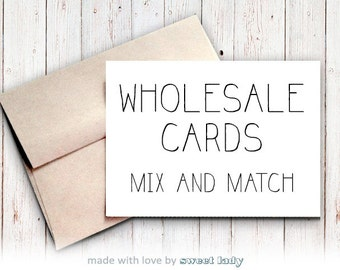 Wholesale Greeting Cards - 42 Cards, 7 Designs