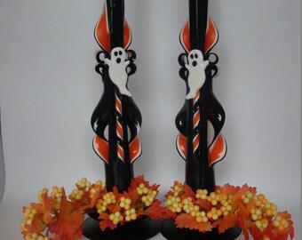 Halloween Taper Candle Centerpiece