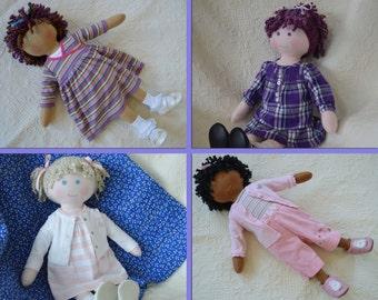 "PDF Sewing Pattern - Cloth Doll 23"" newborn size    WhimsyKid   sp0114"