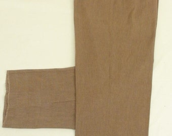 Polo Ralph Lauren Brown Dress Pleat 100% Cotton Trouser Men's Size: 36x37