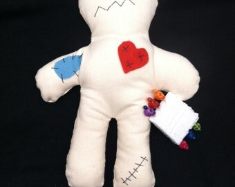Voodoo Doll 8' with 6 colorful skull pins 10% goes to St. Jude Children's Hospital