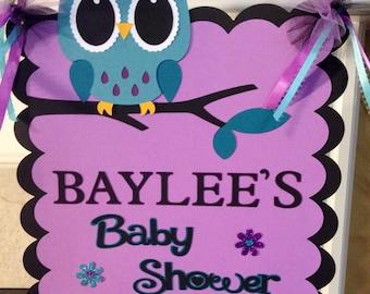 Owl Door Sign, Decorative Sign