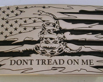 American Dont Tread on Me Flag Belt Buckle USA