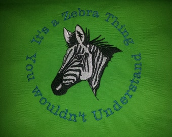 Zebra Head Medium Canvas Tote Bag for CVID & EDS Awarness!