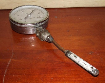 Old Marshalltown Mfg Industrial Boiler Thermometer