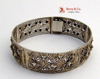 Vintage Filigree Bracelet Sterling Silver