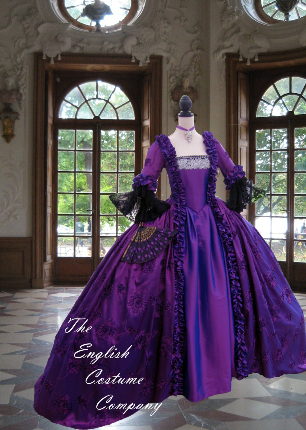 Christmas gown ideas 18th - Versailles Marie Antoinette Dress Georgian Colonial Fully Boned For Authentic Bust Lift No Corset