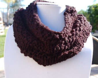 Hand knit Chunky Cowl