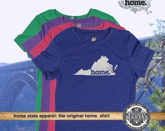 Virginia Home. shirt- Womens Red Green Royal Pink Purple