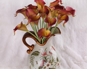 Calla Lily bouquet  20pcs latex Real Nature Touch Flowers Bridal Bouquet Wedding Bouquet with Scent  the same as real flower for DIY