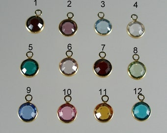 Add a Gold Birthstone Charm (C262G)