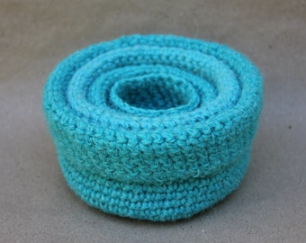 Crocheted wool nesting bowls