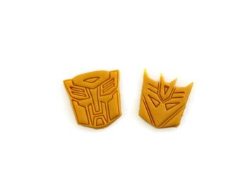 Small Transformers Autobot and Decepticon Fondant Cutters