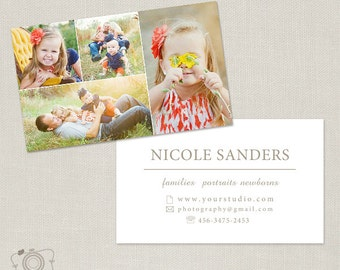 Photography Business Card Photoshop Template for Photographers -001 - C185, INSTANT DOWNLOAD