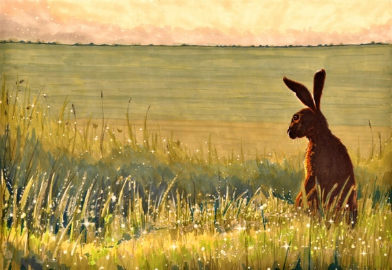 Morning Hare A4 Giclee print