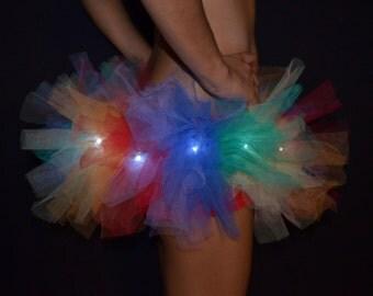 Neon Rainbow LED Tutu Skirt