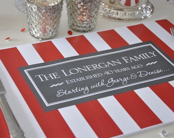 Personalized Paper Placemats - For your Special Occasion!
