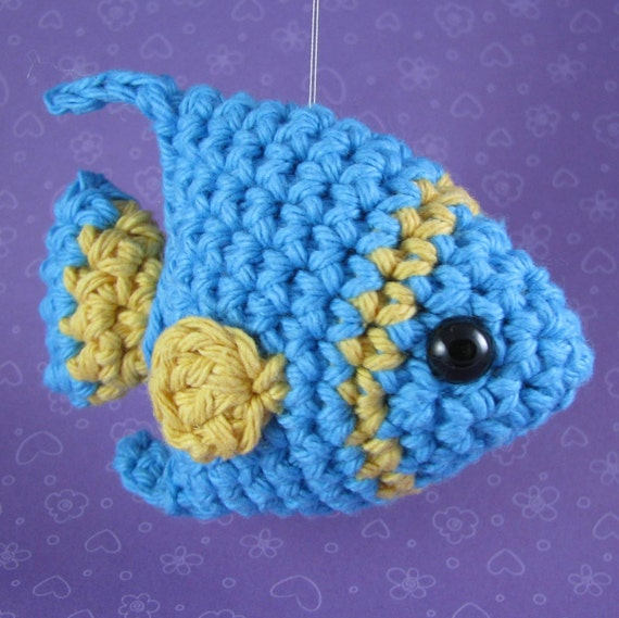 Amigurumi Crochet Pattern Quick and Easy Cute Angelfish