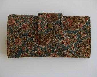 Handmade Clutch Wallet,  BiFold Wallet, Womens Wallet