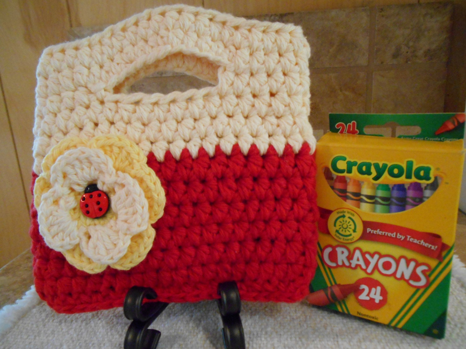 Girls Crochet Purse by BluebirdLoft on Etsy