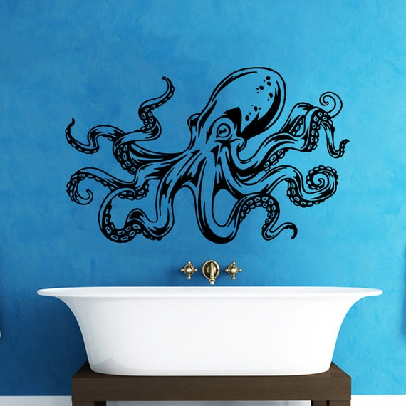Octopus Wall Decal Tentacles Sprut Kraken Ocean Sea Animal