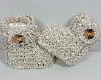 Crochet Baby Ribbed Booties Crochet Shoes / Crochet Slippers/ PDF PATTERN 125/ Size 0-12 months/Tutorial /Crochet baby UGG Patterns Crochet