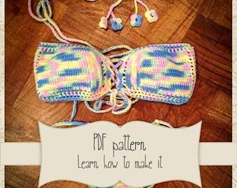 Brazilian bikini crochet pattern - Crochet Bikini - Crochet Lace Swimwear