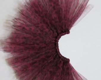 Pink Cheetah Print Tulle Tutu