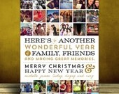 Year of Memories - Instagram, Multiple Photo Christmas or Holiday Card - Printable or Printed