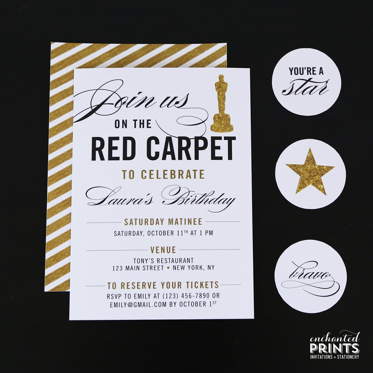 Red Carpet Party Invitation Red Carpet Birthday Red Carpet