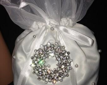 Bridal Money Bag,  Bridal Accessories, Wedding Bag, Baptism, Confirmation, Special Event Purse, Evening Bags