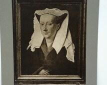 Rudolf Lesch Fine Arts Photo Print Flemish Painting Portrait Margaret van Eyck